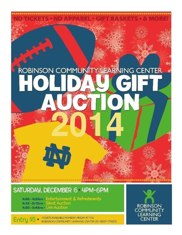 2014 Holiday Gift Auction Flyer